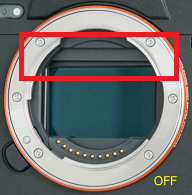 Image of image sensor when power is turned off