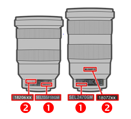 lens serial number and model name location