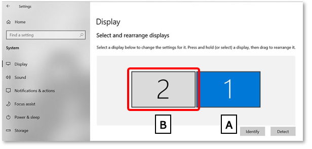 Display setting screen on the computer.