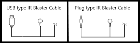 IR Blaster Cable Types