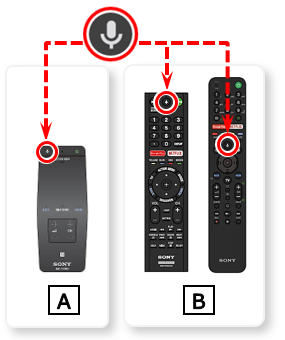 image of a touchpad remote and voice recognition remotes
