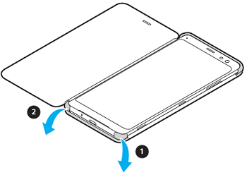 Image showing removing cover from phone