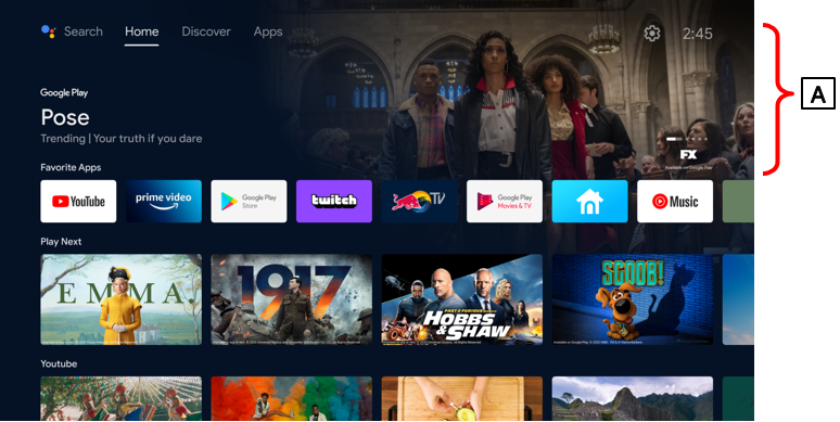 """There is """"A: Highlights"""" at the top of the Home screen."""