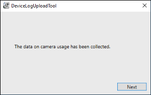 Image indicating that the data on camera usage has been collected
