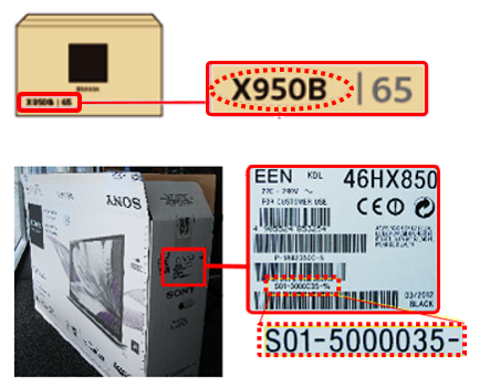 Model Name and Serial on the box