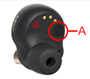 Image indicating the location of the IR sensor