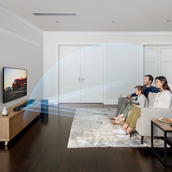 Enjoy Cinematic Surround Sound & Clear Dialogue Mobile