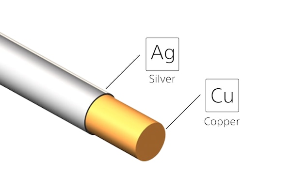 Silver-coated OFC cable