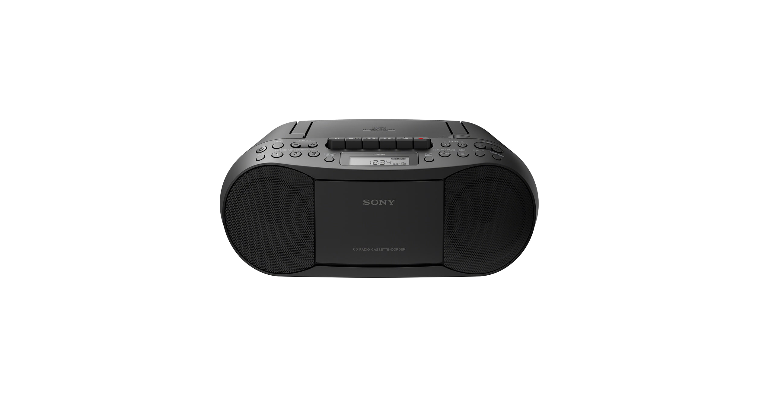 Ongebruikt Cassette Tape and CD Player with Radio | CFD-S70 | Sony US GW-33
