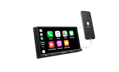 "Images of 6.95"" (17.6 cm) Apple CarPlay/Android Auto™ High Power Media Receiver"