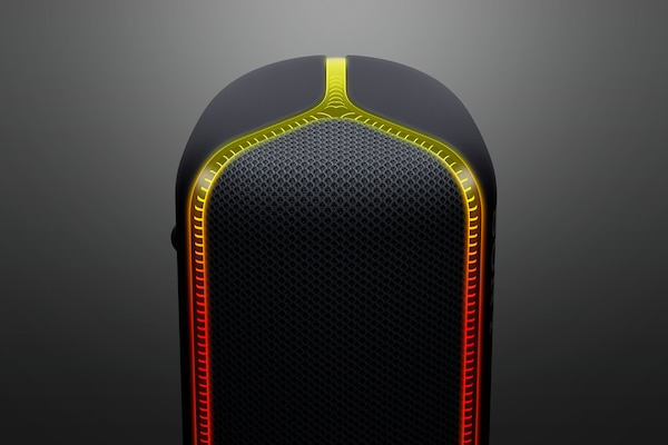Detail of line light on SRS-XB32 speaker