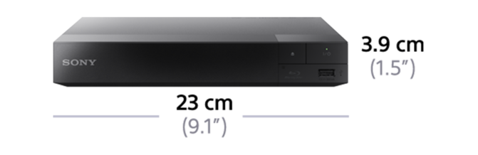 Dimensions of Blu-ray Disc Player