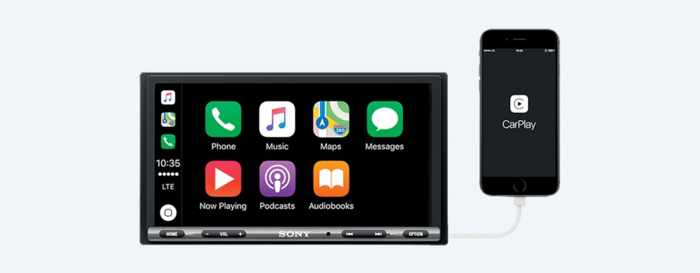 Images de Autoradio de 17,6 cm (6,95 pouces) avec Apple CarPlay