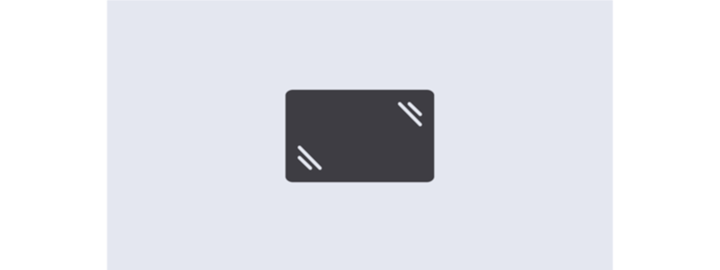 Icon for anti-glare capacitive touchscreen