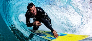Image of surfer showing blur-free detail in the wave