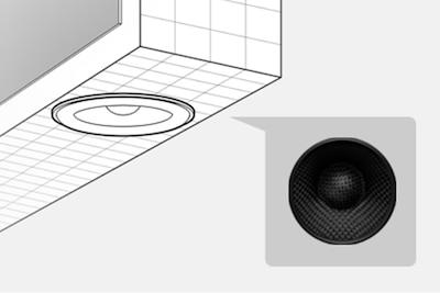 Conventional round speaker
