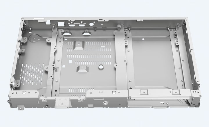 UBP-X800M2's frame-and-beam chassis