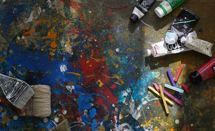 Splatter paint on floor