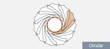 Aperture blade design