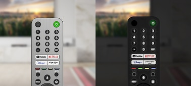 Image of backlit remote in day and night environments