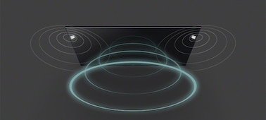 Image of soundwaves from TV with Acoustic Multi-Audio™