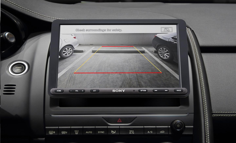 Image showing rear view camera feed on XAV-AX8000