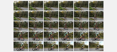30 continuous-shooting images of a cycle racer