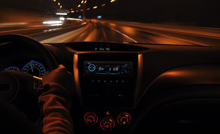 MEX-GS820BT Lit up MEX-GS820BT at night