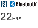 Bluetooth® logo - Wireless listening time of 22 hours