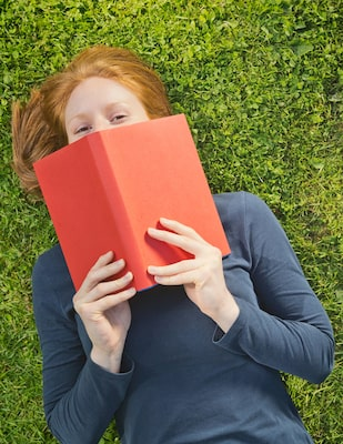 Image of the woman with a book