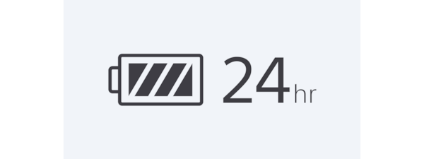 24-hour battery life icon