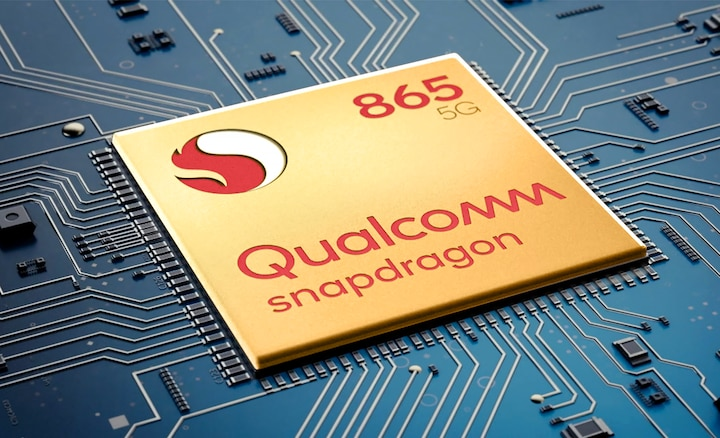 Image of circuit board with Qualcomm® Snapdragon™ 865 5G chip.