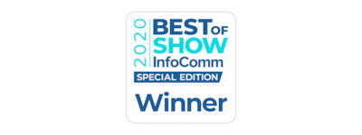 2020 Best of Show InfoComm Winner logo
