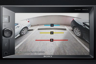 Image of rear camera display