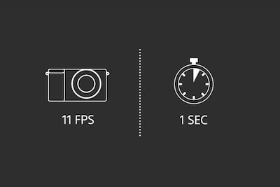 11 frames per second illustration