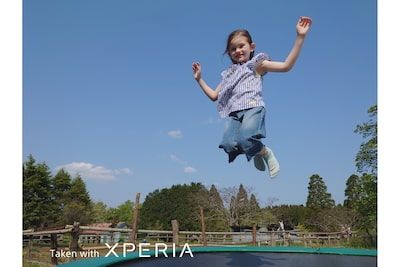 Image of child jumping on trampoline
