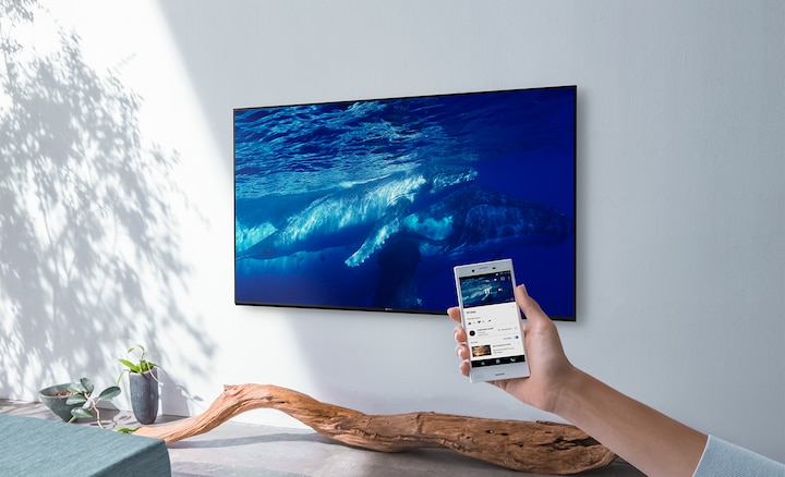 Send to a bigger, better screen with Chromecast built in