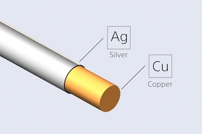Silver-coated, oxygen-free copper cable