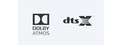 Dolby Atmos/DTS:X logos
