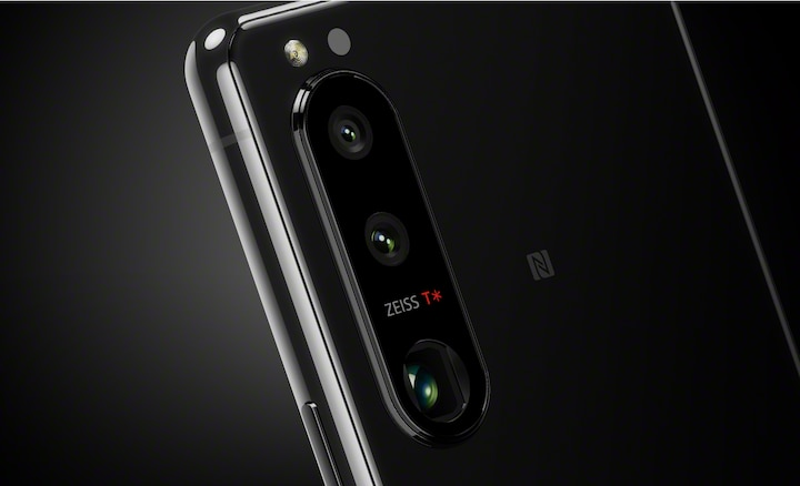 Back of an Xperia 5 III showing different lenses