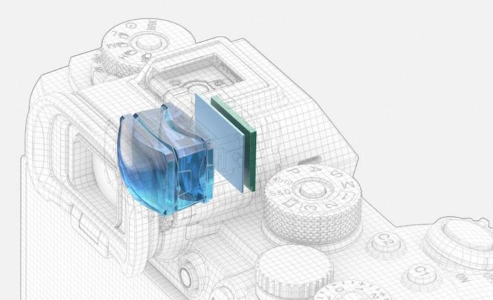 Illustration of electric viewfinder
