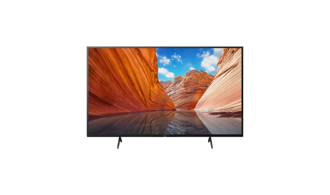 X80J BRAVIA TV with wide stand setting