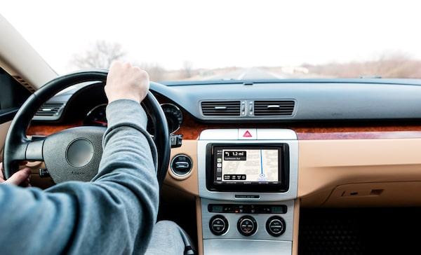 Navigating apple carplay