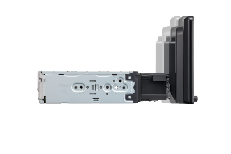 Side-view of XAV-AX8000 mount with depth adjustment