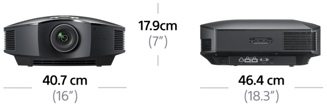 Dimensions of Full HD SXRD Home Cinema Projector
