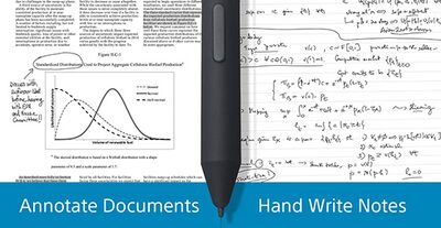 Showing examples of handwritten notes and document annotations, created with Digital Paper's stylus
