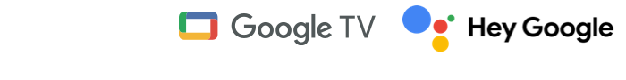 Google TV and Google Assistant logos