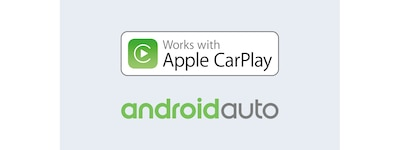 Apple CarPlay and Android Auto logos
