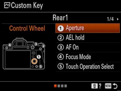 Improved menu interface