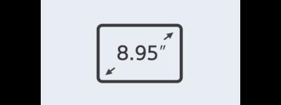 "8.95"" (22.7-cm) display icon"
